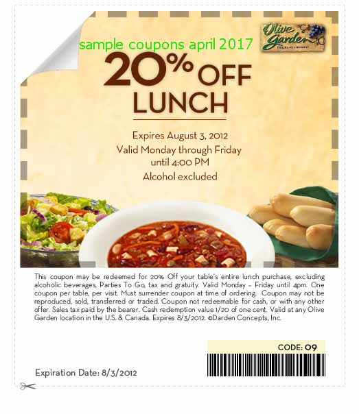 Olivegarden coupon code