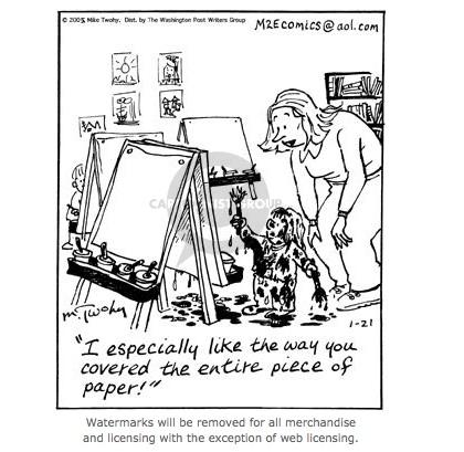 Art. Paper. Scissors. Glue!: Sunday Comic