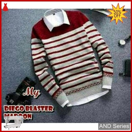 AND292 Sweater Pria Diego Blaster Merah Maroon BMGShop