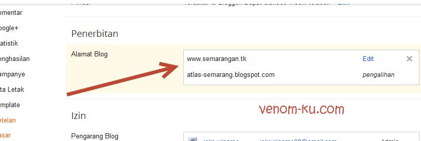 pengalihan domain