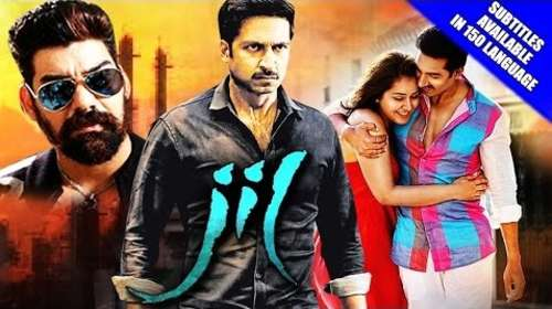 Poster Of Jil 2016 Hindi Dubbed 720p HDRip x264 Free Download Watch Online downloadhub.net