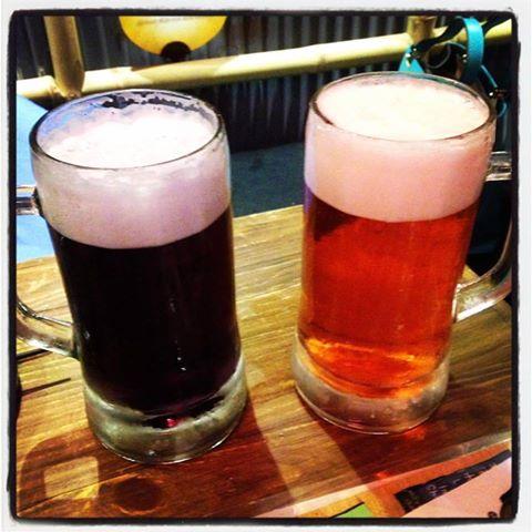 purple lavender beer and pink sakura cherry blossom beer in Bangkok