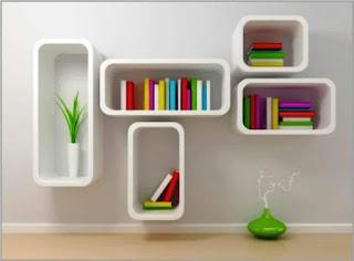 Model Rak Buku Gantung Minimalis