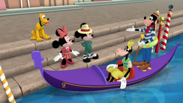 Hello, Little Mouse in Italian, I'm Gondolier Goofy!