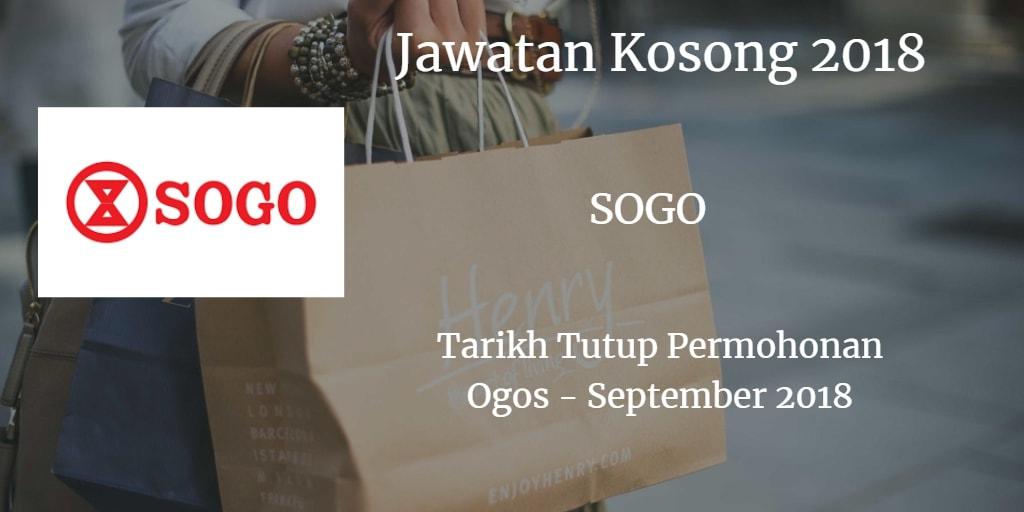 Jawatan Kosong SOGO (K.L.) DEPARTMENT STORE SDN BHD September 2018