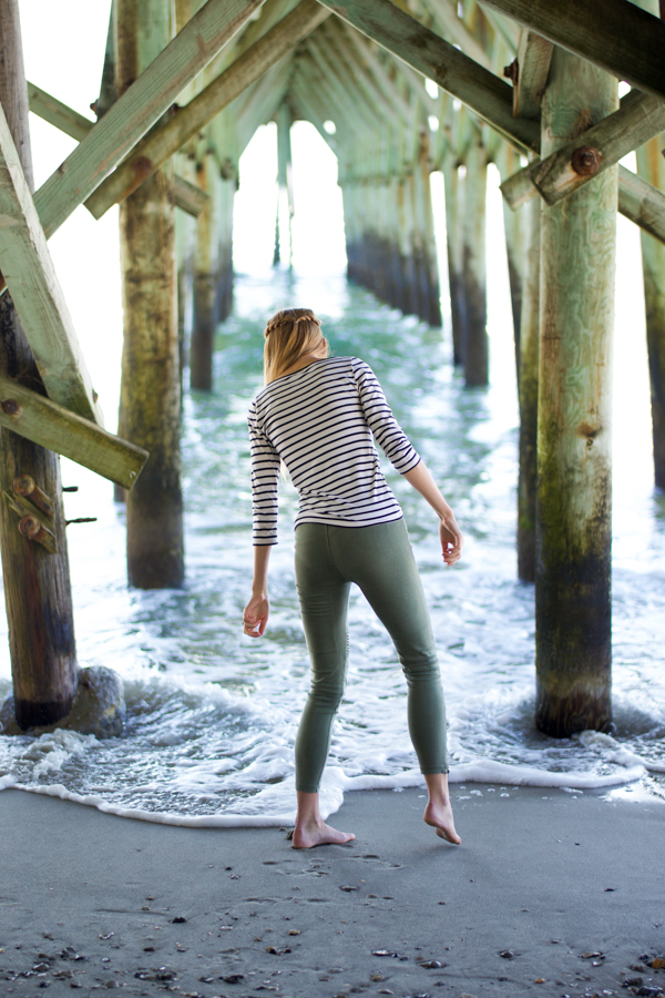 Ocean Pier Girl Near Water