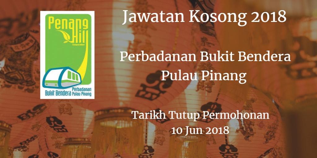 Jawatan Kosong Perbadanan Bukit Bendera Pulau Pinang 10 Jun 2018
