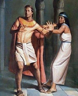 Joseph flee from Potiphar wife