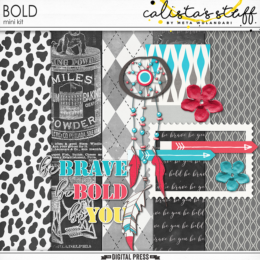November 2017 Digiscrap Parade : BOLD