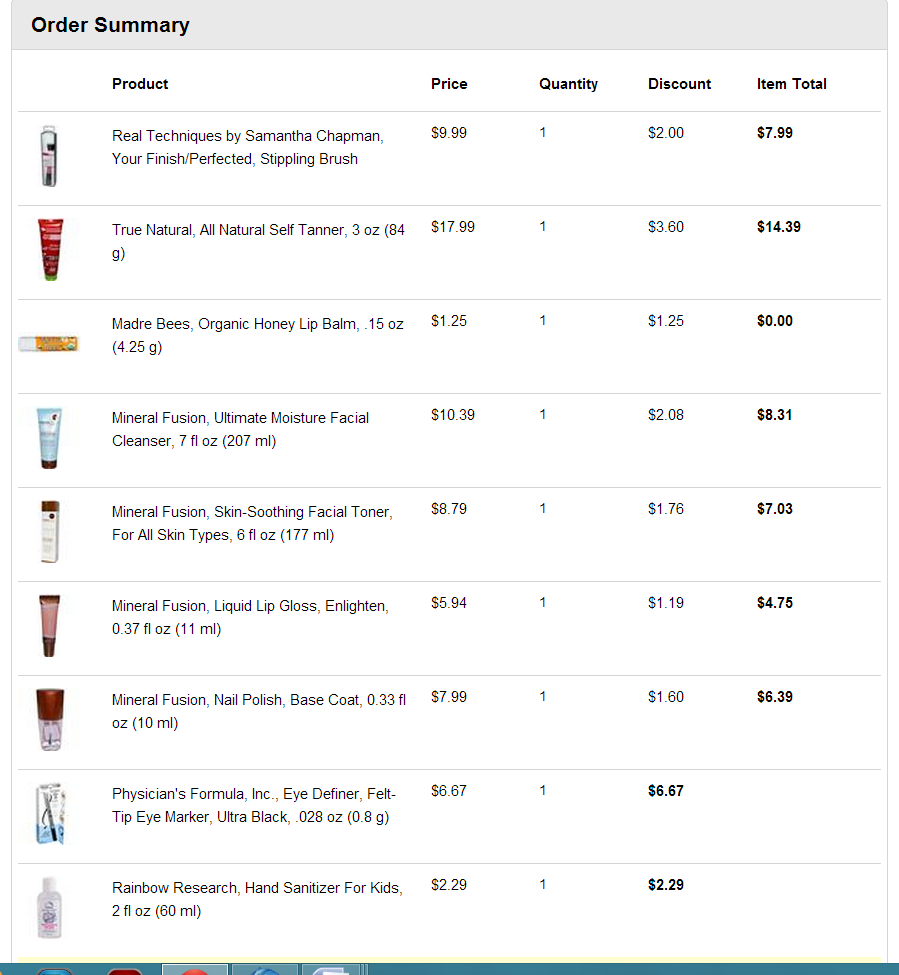what i ordered from iherb.com