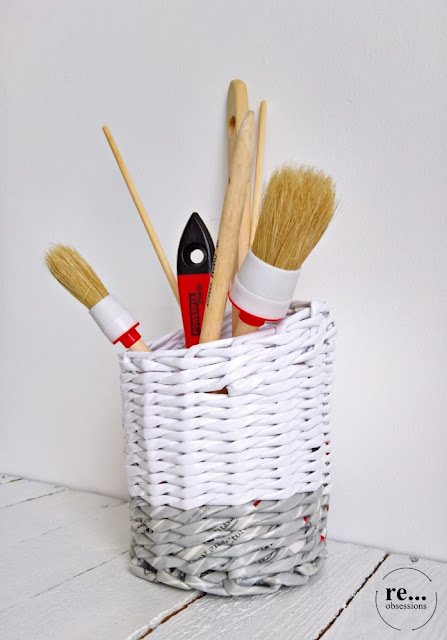 newspaper weaving, wicker paper, paper, basket,recycle, papierowa wiklina, koszyk