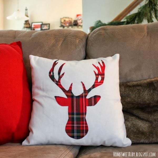 No Sew Christmas Pillows: DIY Christmas pillow tutorials,
