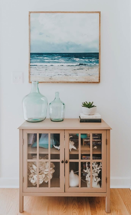 Wood Frame Ocean Art Focal Point