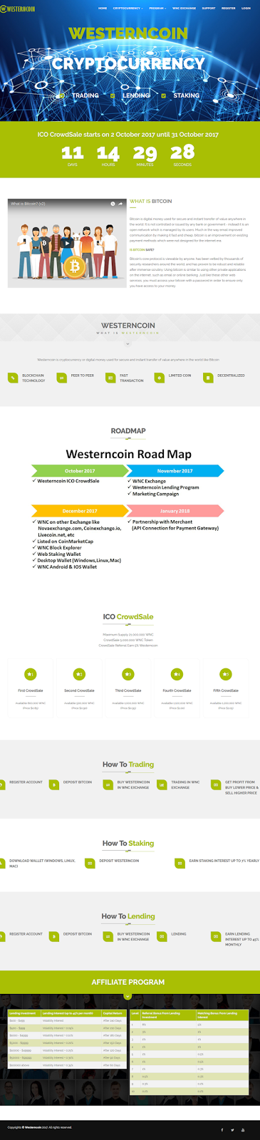 westerncoin.co Designed By Buyhyipweb