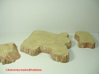 Desert terrain pieces for miniature war games - group 3.