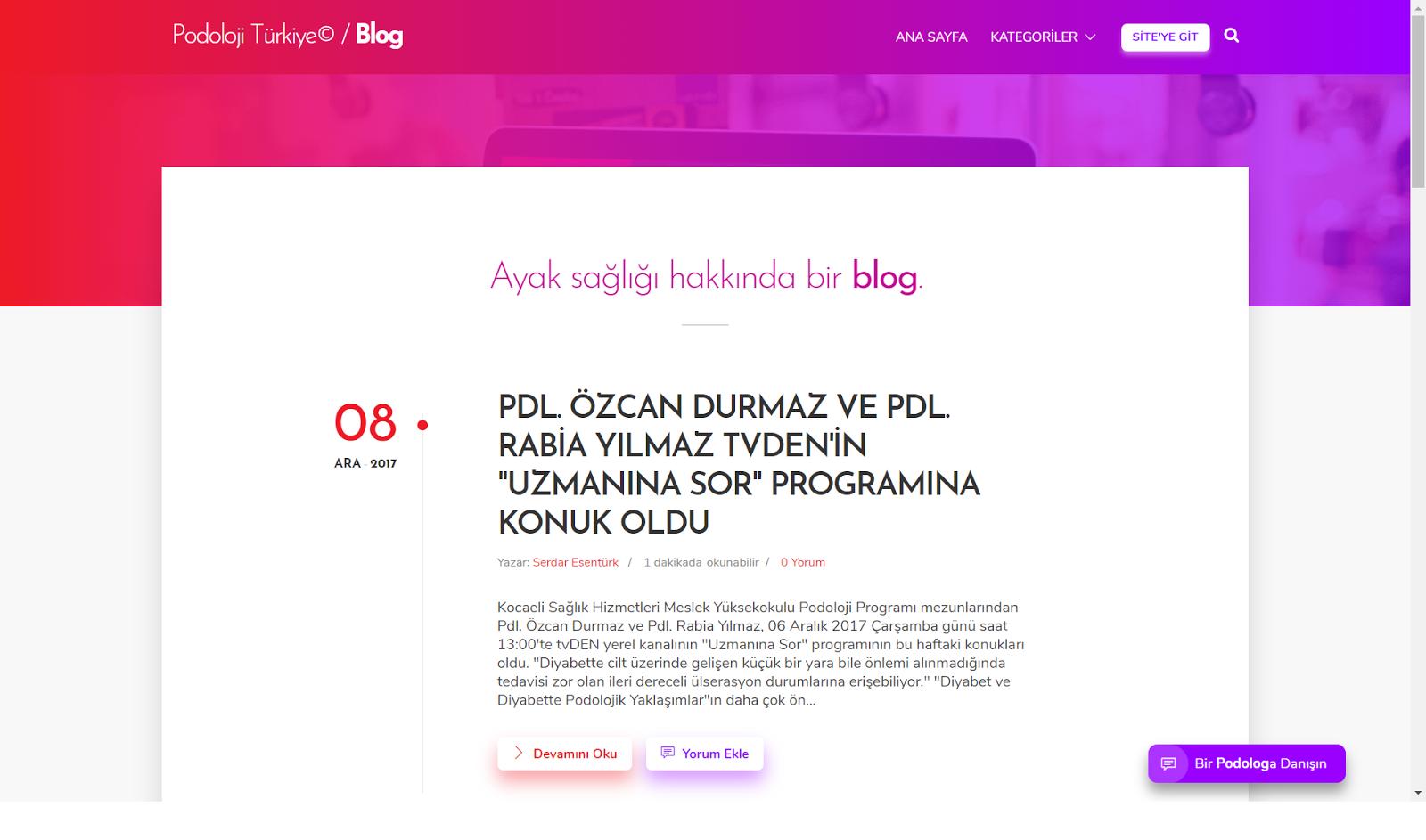 Yeni Blog Görüntüsü