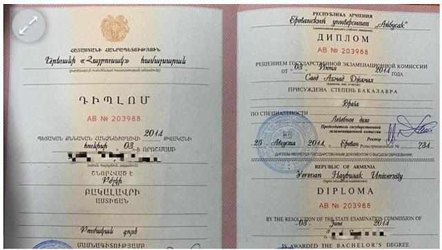 40 israelíes con falsos diplomas de Armenia