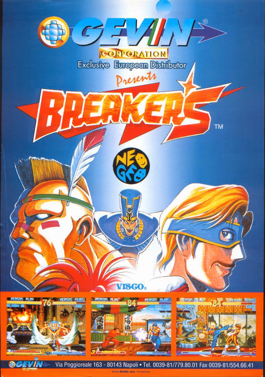 Breakers+arcade+game+retro+portable+art+flyer