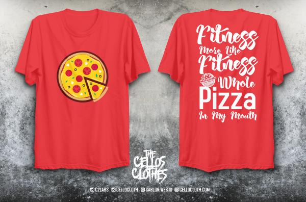 Desain & Produksi Kaos Mozarella Pizza Delivery