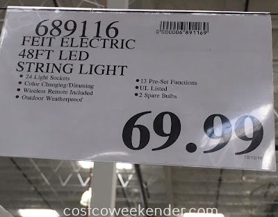 Deal for the Feit Electric 48ft LED String Lights at Costco