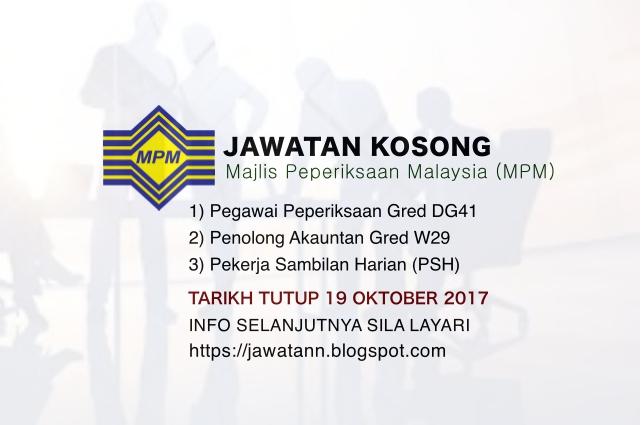 Kerja Kosong Majlis Peperiksaan Malaysia (MPM)
