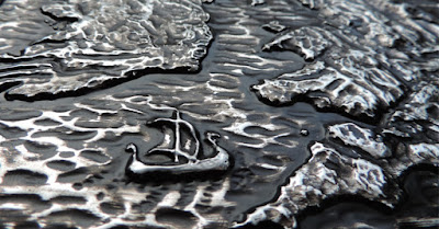 Longship detail: British Isles sculpted wall plaque from Justbod