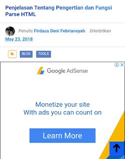 Cara memasang iklan di bawah judul artikel