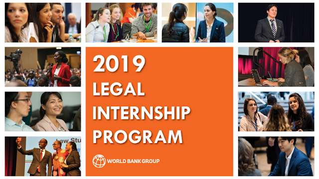 The World Bank Legal Internship Program 2019