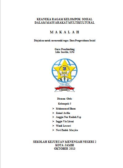 Makalah Ghia Makalah Keanekaragaman Kelompok Sosial Dalam Masyarakat Multikultural