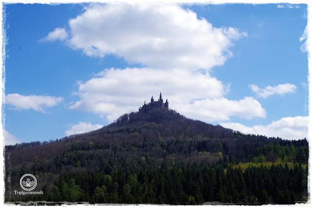 Gartenblog Topfgartenwelt Burg Hohenzollern: Blick auf die Burg