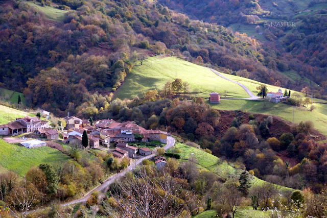 Pedroveya typical Asturian village