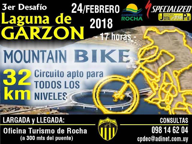 MTB en Laguna de Garzón (3a.ed.; Rocha, 24/feb/2018)