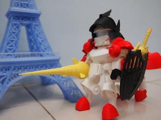 Projeto de impressão 3D baseado no Legend BB Knight Gundam