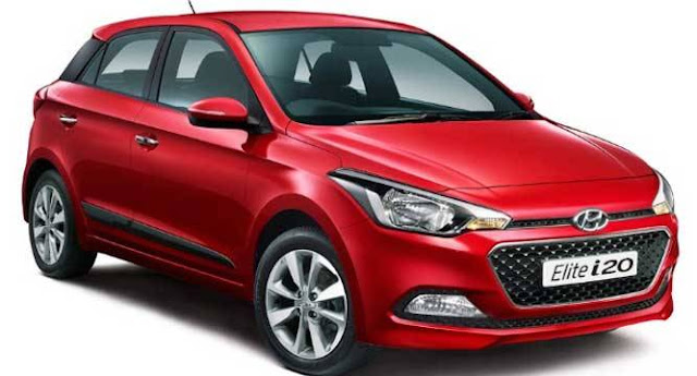Hyundai Elite i20. Hyundai red color pose
