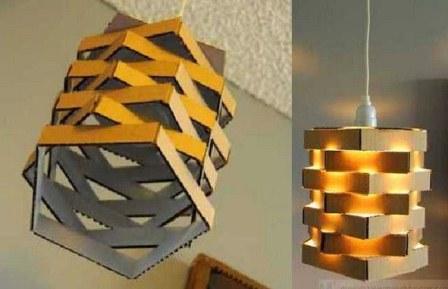 lampu-hias-dari-kardus-bekas