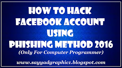 How TO hack facebook account using phishing method 2016