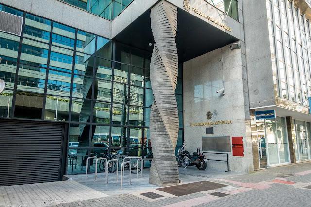 O edifício do Ministério Público Federal em Curitiba - detalhe