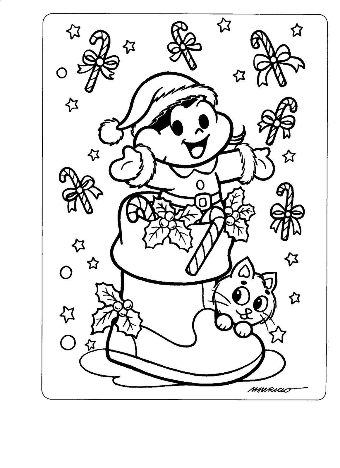 Natal Lindo Com Os Desenhos Da Turma Da Mônica Desenhos E