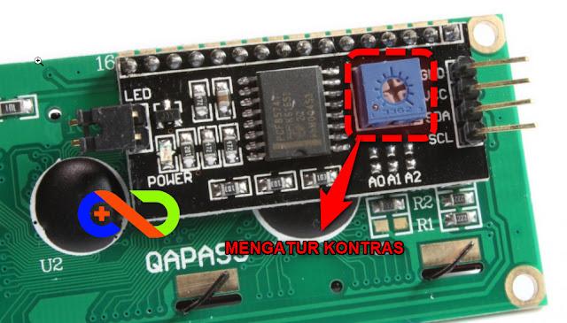 LCD I2C IIC Kontras