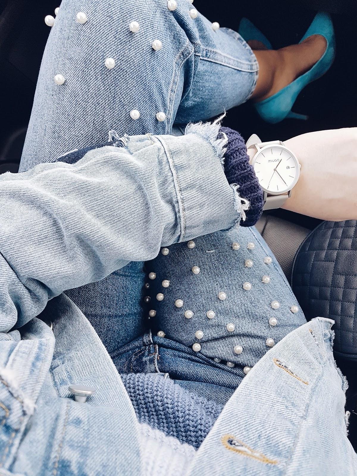 Denim & pearls czyli perełkowe mom jeans