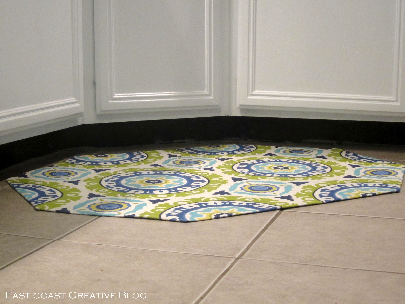 diy fabric floorcloth kitchen floor mat