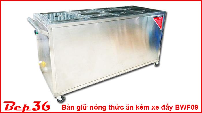 Bàn giữ nóng thức ăn kèm xe đẩy BWF09