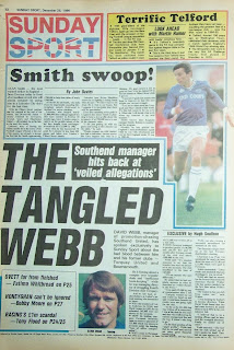Back cover page of the Sunday Sport from 28 Dec 1986