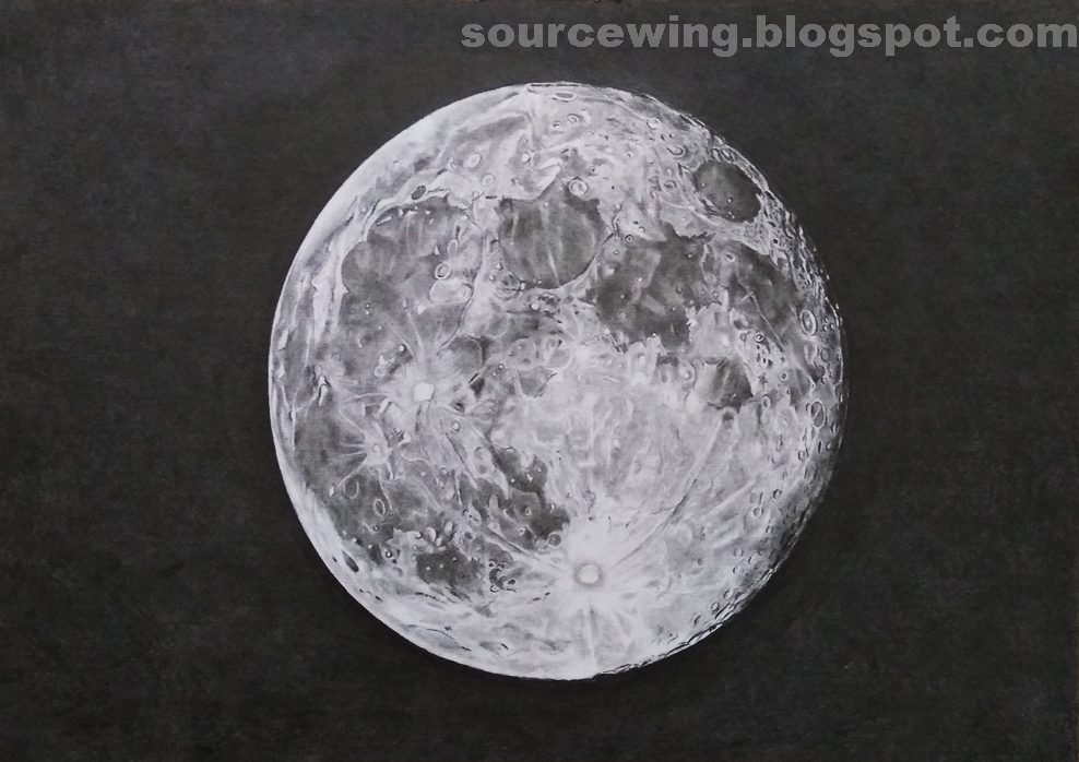 This is a photo of Nerdy Drawing The Moon