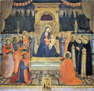 The San Marco altarpiece in Florence is one of Fra Angelico's most famous works