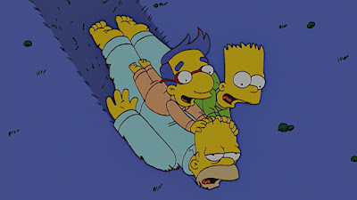Homer Simpson as the impressionable zombie dad.