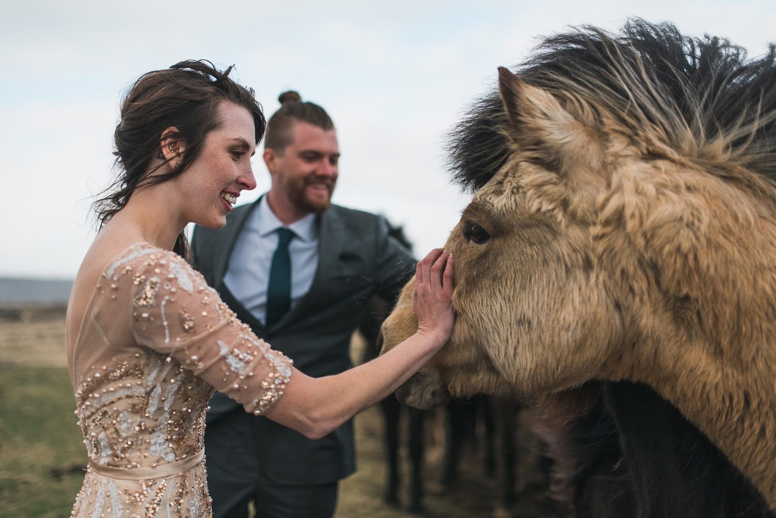 Wedding with Icelandic Horses