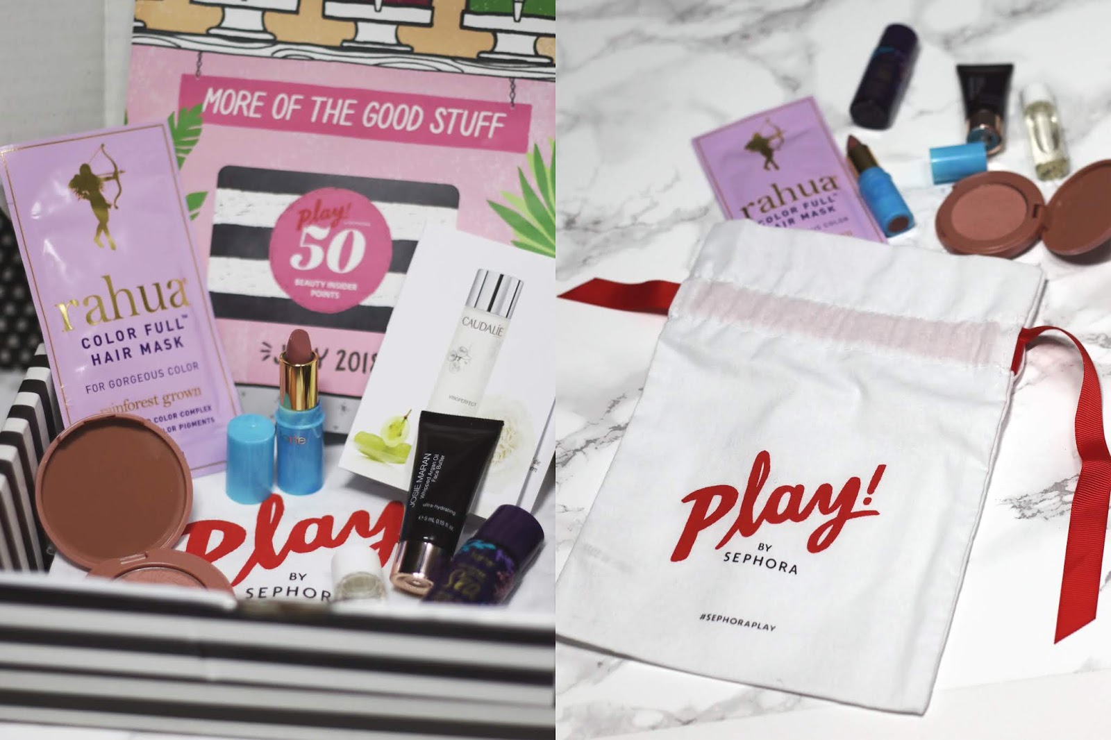 Beauty Blogger, College Blogger, Lifestyle Blogger, Sephora Play Box Review, Tarte, Caudalie, Josie Maran, Rahua