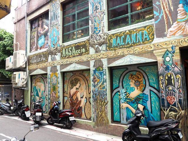 Street art in Ximen district, Taipei, Taiwan