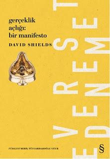 Bodoslamadan Kitap: David Shields - Gerçeklik Açlığı: Bir Manifesto